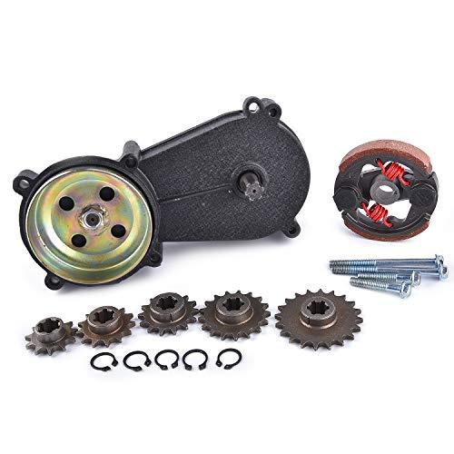Getriebe Reduktionsbox Kupplung 47cc 49cc Ersatz für 2-Takt Pocket Mini Bike T8F 11T 13T 14T 17T 20T Zähne schwarz
