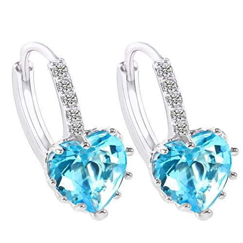 Gymqian Pendientes Hechos a Mano Pendientes de Gota Imitados Diamante Pendientes de Corazón Accesorios Accesorios Pendientes Peculiares Adecuados para Fiestas Y Bodas Moda/F