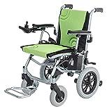 Sillas de ruedas eléctricas para plegables motorizadas aluminio de lujo, batería de litio móvil de 14 kg, adecuada para sillas de ruedas eléctricas para personas mayores y discapacitadas control dual
