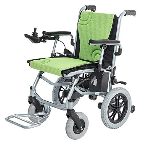 Sillas de ruedas eléctricas para plegables motorizadas aluminio de lujo, batería de litio móvil de 14 kg, adecuada para sillas de ruedas eléctricas para personas mayores y discapacitadas contr