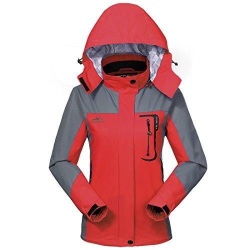 MICKYMIN Waterproof Jacket Rain Coats for Women Outdoor Hooded Softshell Camping Hiking Travel Windproof Jackets