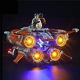 Kit De Iluminación LED para (Star Wars Jakku Quadjumper) Modelos De Juguete Compátiles con LEGO75178 (NO Incluye EL Modelo)