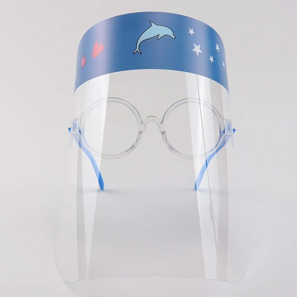 Dswe Gafas de Dibujos Animados con Montura de máscara Protectora, Gafas de protección Facial antisalpicaduras, Gafas de Aislamiento Protectoras Transparentes para niños