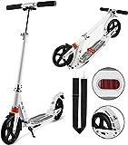 Laiozyen Big Wheel Scooter – Trottinette de Ville Pliable réglable en Hauteur pour Adultes et...