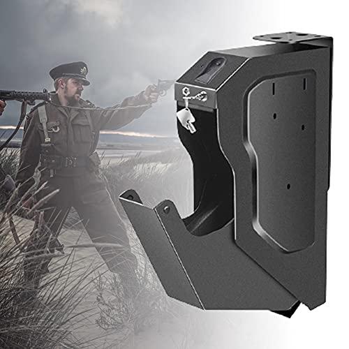 ZPCSAWA Portátil Caja Fuerte para Armas, Gabinete para Armas, Huella Digital y Cerradura con Llave, Fácil de Usar, Proporciona Almacenamiento Seguro para Una Pistola Estándar