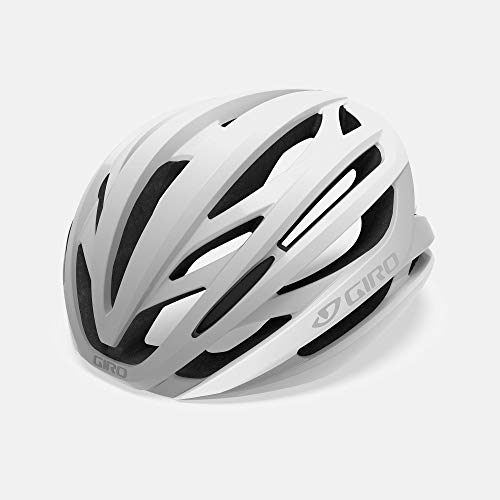 Giro Syntax MIPS Adult Road Cycling Helmet - Medium (55-59 cm), Matte White/Silver (2020)
