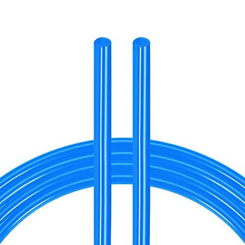 sourcing map Pneumatischer Luftschlauch, Luftkompressor, Schlauch, 5 mm Innendurchmesser x 8 mm Außendurchmesser x 7,7 m, Polyurethan-Rohr, blau