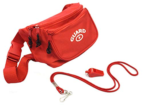 Adoretex Guard Fanny Pack Whistle with Lanyard Equipment Set (WBS-001) Red