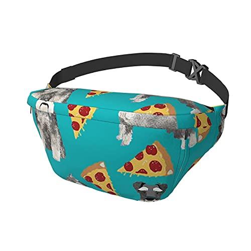 Riñonera Schnauzers Dog Pizzas Sling Bag Riñonera Crossbody Mochila de Hombro Casual Bolsas de Pecho Mochila de Cintura