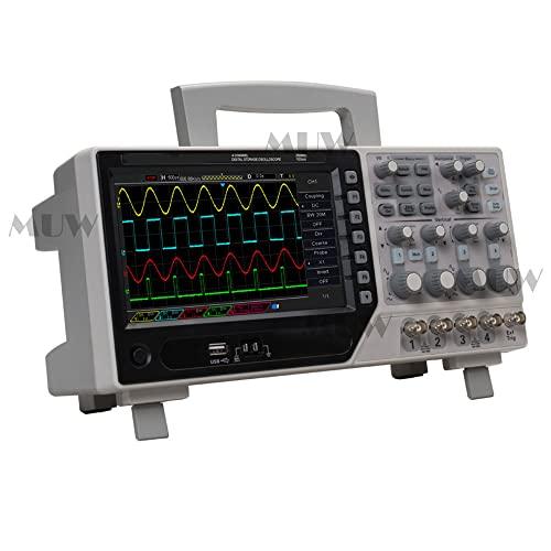 Tipo de escritorio 250MHz 4CH Osciloscopio 500μV/div 1GS/s Frecuencia de muestreo Sistema de disparo digital TFT de 7