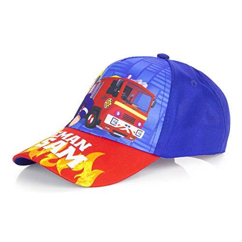 Feuerwehrmannn Sam Cap Kappe Sonnen-Hut Schirm-Mütze Snapback 54 cm, Farbe:Blau, Größe:54