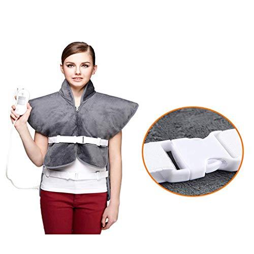 LMCLJJ Heizkissen for Rücken und Schultern Schmerzlinderung, Sable Heizung Wrap for Hals mit Auto-Abschaltung Temperatureinstellungen