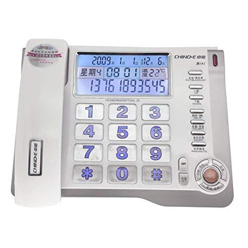 Nuevo teléfono / teléfono Tarjeta SIM inalámbrica GSM Teléfono de escritorio clásico Teléfono de escritorio Línea fija con cable Ancianos Luminoso Botón grande Lista negra Número de interceptación Tel