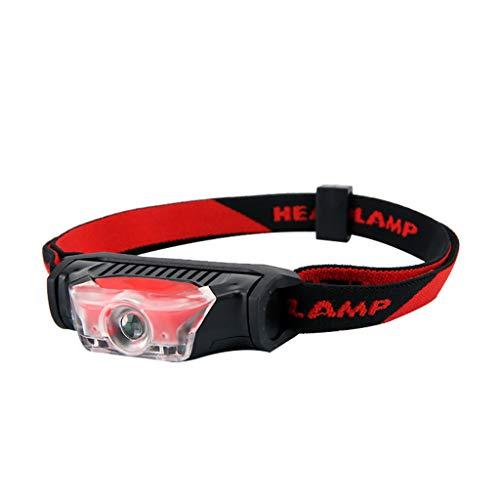 Nourich - Linterna Frontal LED, 1 x Pila AA, luz Nocturna, Linterna de Cabeza, Correr, Correr, Pesca, Camping, para niños y más