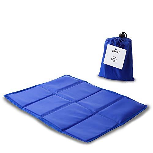 amaki Thermo Outdoor Sitzkissen Sitzunterlage faltbares Thermokissen Isoliert 2er Pack (2 x Blau)