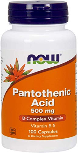 NOW Foods Pantothenic Acid 500mg, 100 Capsules (Pack of 1)