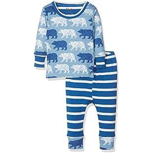 Hatley Boys' Organic Cotton Baby Pyjama Set, Blue (Polar Bear Silhouettes), 18-24 Months