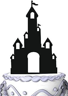 Meijiafei Party Decoration-Princess Glitter Fairy Tale Castle Cake Topper
