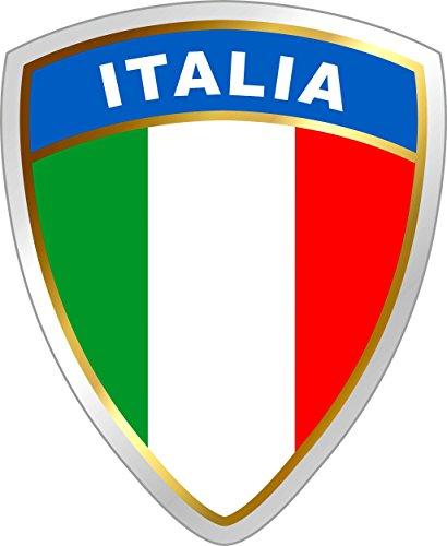 carstyling XXL Aufkleber Italien Wappen Dimension 45 x 35 mm Fanartikel ~ schneller Versand innerhalb 24 Stunden ~