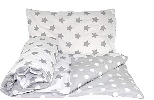 Baby's Comfort Reversible 2Pcs Baby Bedding Set Duvet/Quilt Cover + Pillowcase (120X90Cm for Cots and Cotbeds, 21), Colour 21, Size 120x90