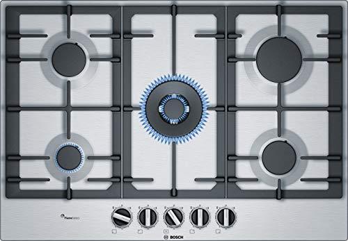 Bosch Serie 6 PCQ7A5B90 plaque Acier inoxydable Intégré Gaz - Plaques (Acier inoxydable, Intégré, Gaz, Acier inoxydable, 1000 W, 1750 W)