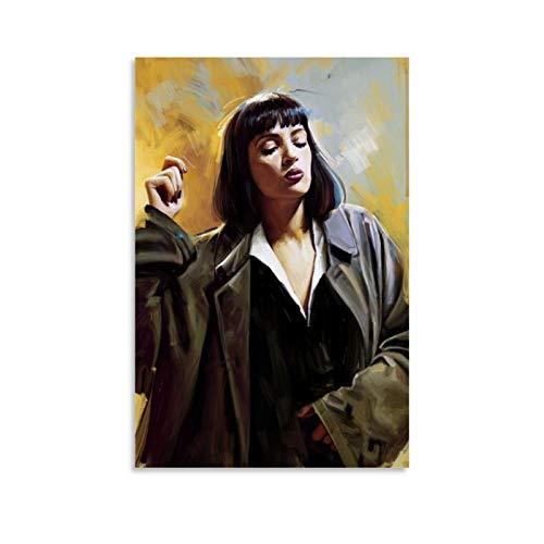 XIXILI Mia Wallace Pulp Fiction Poster creativo del film Stampa The Fine Arts Astratta Tela Poster e Wall Art Stampa Moderna Camera da Letto Famiglia Poster 30 x 45 cm