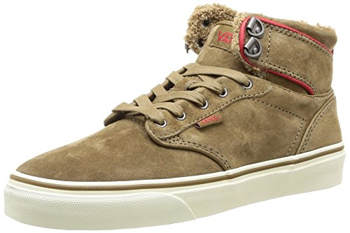 Vans W ATWOOD HI (MTE) PEWTER/WH, Sneaker donna , Marrone (Marron (Tan/Red)), 36