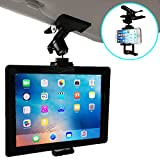 Nanmara Car Mount for iPad Tablet & Smartphone Clip Holder for Sun Visor