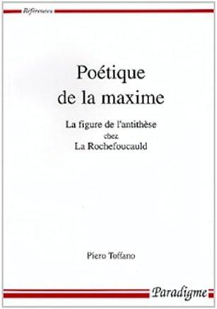 Poetique de la Maxime