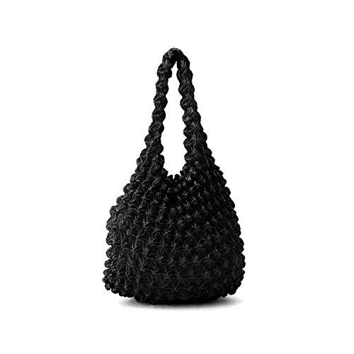 エコバッグ 絞りバッグ ストレッチトートバッグ レジ袋 たっぷり収納 伸縮 軽量 伸縮自在 選べる7色 コンパクト マザーズバッグ お買い物バッグ マチ広(ブラック)