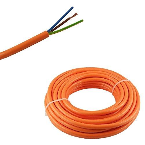 WITTKOWARE PUR-Netzleitung, 3G1,5mm², orange, 10m Ring