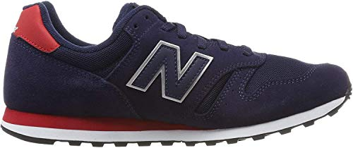New Balance Herren 373 Sneaker, Blau (Navy/Red Navy/Red), 43 EU (9 UK)