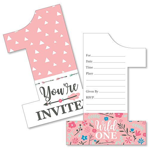 She's a Wild One Floral 1st Birthday Party Invitation