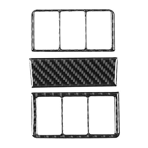 Cubierta de Interruptor de Faro, Cubierta de botón de Faro, Montaje Firme en Lujoso Ajuste Interior de Coche Apto para Piezas de automóvil Honda CR-V 2016-2019