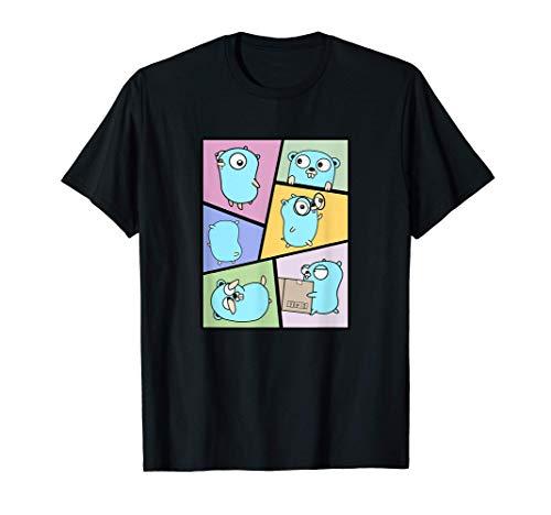 Golang Gopher GTA Comic Style | Ir a programar Camiseta