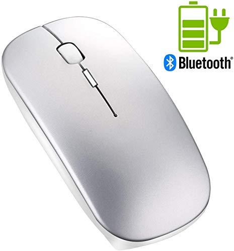 Ratón Bluetooth sin Receptor - Tsmine Ratón Inalámbrico Recargable con Clique Silencioso, Bluetooth Wireless Mouse Ratón Óptico para Macbook pro, Ordenador, Computadora Portátil, Tableta