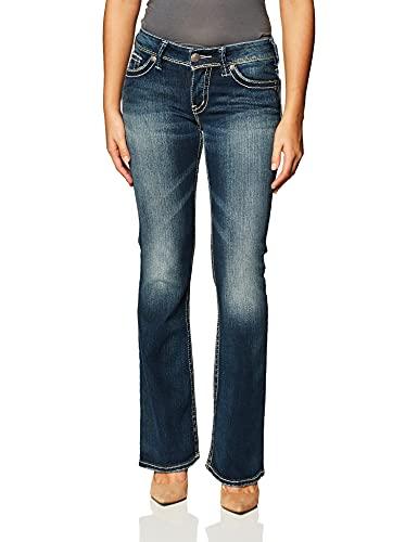 Silver Jeans Damen Suki Midrise Flare Stretch Jeans, Indigo, 29W x 32L
