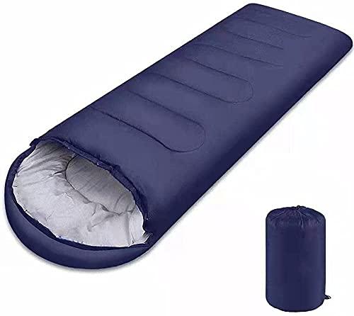 MAATCHH Sacco a Pelo Sacco a Pelo Portatile for Sacchetto di Compressione Facile da conservare for Un Sacco a Pelo Adulto per Adulti (Color : Navy Blue, Dimensione : 210x5cm)
