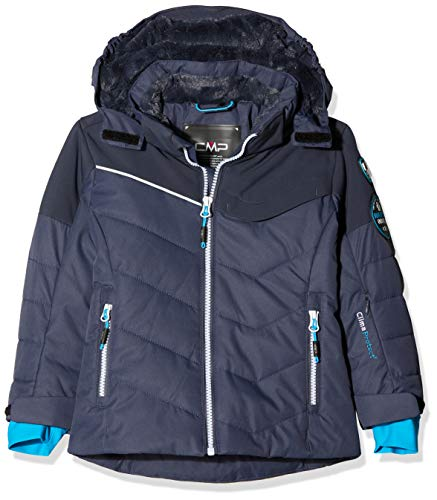 CMP Mädchen Wattierte 5000 Twill Skijacke Jacke, Asphalt, 176