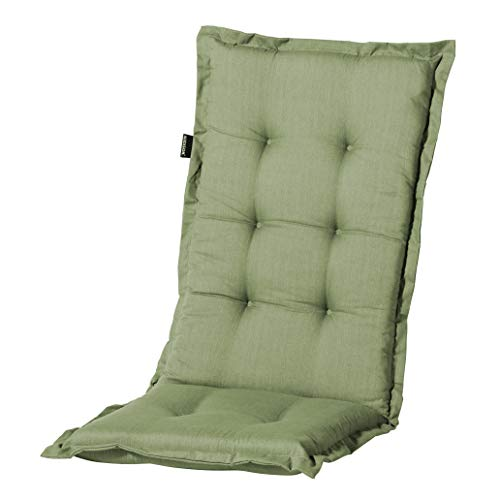 Madison Hochlehnerauflage Basic Green, ca. 123 x 50 x 8 cm, grün, 50{2ac7c4b5842658b101c05103d51395708478814bd97080352af4eeeeb4d08ebe} Baumwolle/50{2ac7c4b5842658b101c05103d51395708478814bd97080352af4eeeeb4d08ebe} Polyester