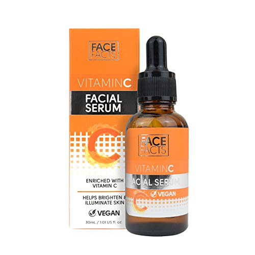 Facial Serum Enriched with Vitamin C & Betaine Helps Brighten and Illuminate Skin Reduce Wrinkles Vegan Friendly 30ml