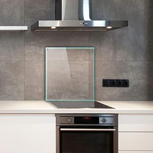 TMK | Placa protectora de una pieza 60 x 52 cm para vitrocerámica, cubierta de cristal, protección contra salpicaduras, placa de cristal, cubierta transparente