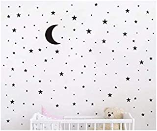 Magic Star & Moon wall stickers Colorful Animals Horse Stars Wall Decals For Kids Girls Room DIY Poster Wallpaper Home Dec...