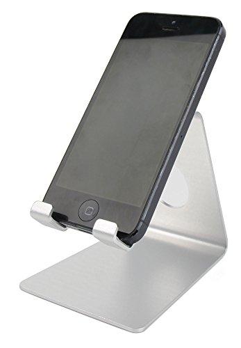 DURAGADGET Atril De Aluminio para Smartphone Nokia X6 / Blackview P6000 / Doogee Mix Lite - Color Plata - ¡Ideal para Su Escritorio Tanto En Casa como En La Oficina!