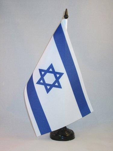 AZ FLAG Bandera de Mesa de Israel 21x14cm - BANDERINA de DESPACHO ISRAELÍ 14 x 21 cm