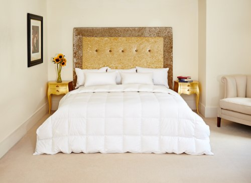 The Natural Bedding Company Canadian White Goose Feather and Down Duvet - Double - 10.5 TOG