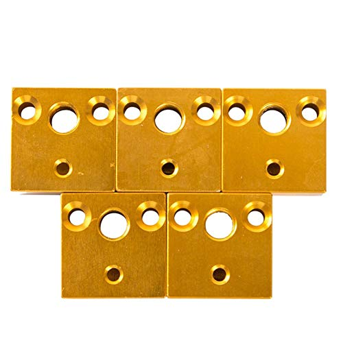 Bloque de calefacción, 5 unidades de bloque de calentador de impresora 3D duradero módulo de calefacción para Ender-3 CR-10