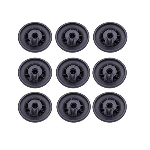 ADUCI 9Pcs Lavavajillas Rodillo de Rejilla Inferior Cesta Neumáticos En Bosch for Neff for Siemens Piezas de Repuesto 165314