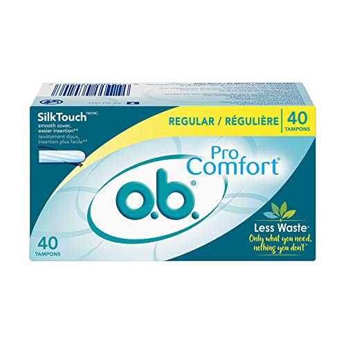 ob Pro Comfort Applicator Free Digital Tampons Regular Absorbancy 40 Count Pack of 1