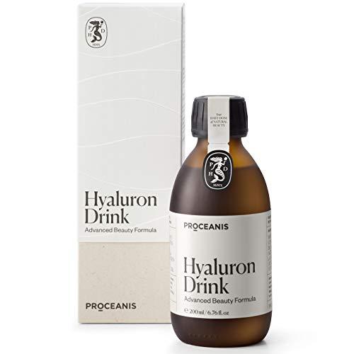 Premium Hyaluron Drink hochdosiert - Vegan - Für schöne Haut. Hyaluronsäure trinken für natürliche Schönheit (20 Tage Kur)